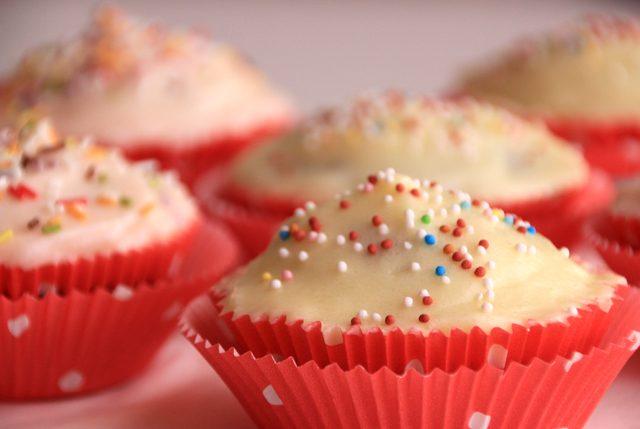 Cupcakes de chocolate rellenos