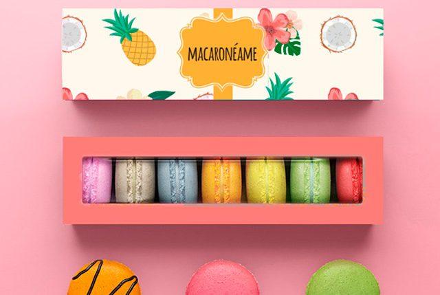 Caja DIY para macarons