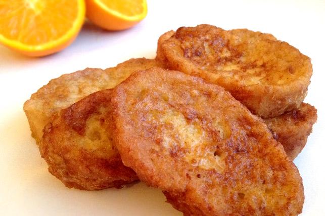 Torrijas a la naranja